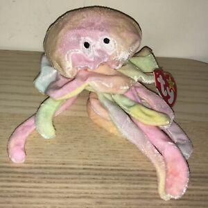 BNWT! TY Beanie Baby Goochy the Jellyfish DOB November 18th 1998