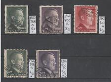 5 timbres allemands oblitérés; 1942-44.