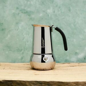 Bialetti Kitty Stainless Steel Stovetop coffee maker 2,4,6 or 10 cup.