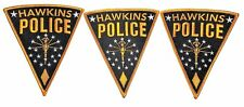 "Stranger Things TV Series Hawkins Police Logo 5"" Tall Embroidered Patch Set of 3"