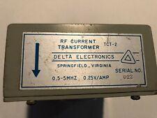 Delta Electronics Rf Current Transformer TCT-2. 0.5 to 5 MHz 0.25V/AMP