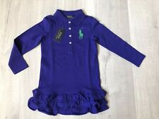 [BNWT] Ralph Laurel Polo Dress purple Girl Size 4/4T