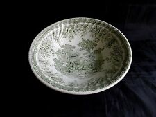 saladier en céramique,motif floral,scéne champetre