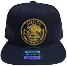 JALISCO  MEXICO BASEBALL HAT LOGO FEDERAL WITH 2 LOGOS COLOR NAVY SNAP BACK