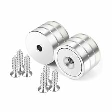 Neosmuk Magnets With Hole 100 Lb Strong Round Cup Magnets For Wall Heavy D