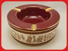 Fiorentine Hand Made In Italy Highly Ornate Deep Red/Burgundy Ashtray