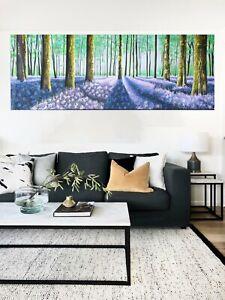 Verbena Woods Tree landscape art painting oil canvas original Large wall décor