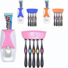Automatische Zahnpastaspender + 5 Zahnbürstenhalter Set