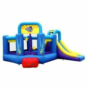 Bounceland 9143 Pop Star Bounce House with Slide - Blue