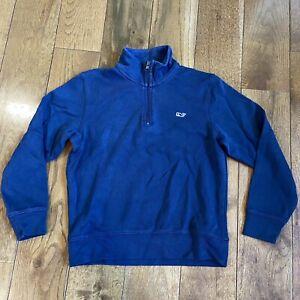 Boys Vineyard Vines 1/2 Zip Pullover Shirt Navy Blue Cotton sz 5/6