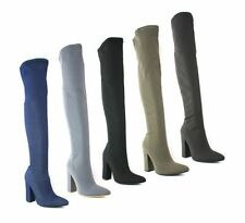 Unbranded High (3-4.5 in.) Textile Boots for Women