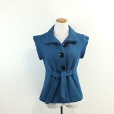 Luii Anthropologie Womens Sz M Wool Blend Vest Tie Front Fully Lined Great Look