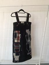 Junya Watanabe Comme des Garcons denim patchwork pinafore dress size S