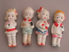 Sweet Lot Of 4 Japan Frozen Charlotte Penny Bisque Dolls