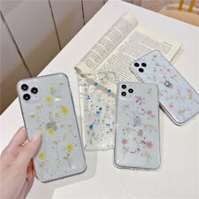 Glitter Flower Clean TPU Phone Case Cover For iPhone 11 Max XR X 6s 8 7 SE 2020