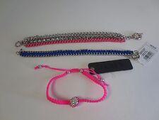 Lot of 3 Designer Bracelets Neon Friendship Bracelet Set 3 NWT