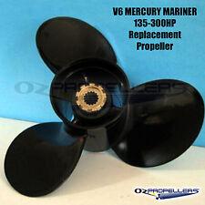 90-300hp Mercury Mariner 3 Blade Aluminium Propeller Prop All Sizes V6 Gear Box