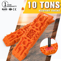 10T Recovery Tracks Built-in Jack Base Mud Snow Grass 4WD Accessory 1Pair Orange