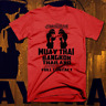 Muay Thai T-shirt MMA, UFC, Jiu Jitsu Fight Club Thai Box Sak Yant Tattoo Red