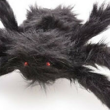 30cm Huge Giant Halloween Black Furry Poseable Monster Spider Prop Decoration