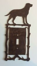 Dog (Canine) Single Light Switch Plate Cover - Rustic Decor Metal Art - Vgc!