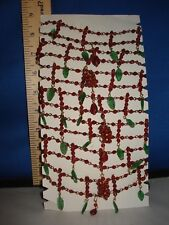 Berry Garland with Green Leaves 6 Foot Length 52723 292
