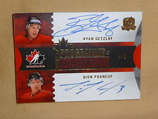 12-13 The Cup Ryan Getzlaf / Dion Phaneuf Dual Programme of Excellence Auto 4/5