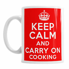 Keep Calm And Carry On Cooking Chef  Cook Dinner Novelty Tea Coffee Mug Gift