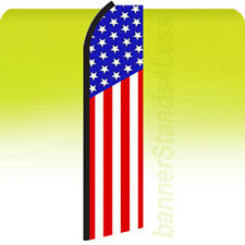 Feather Swooper Flag Banner Sign 11.5 ft Tall - Usa Us Stars Stripes b1z