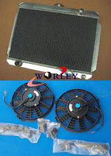 3 core Holden Gemini  aluminum  radiator with 2 fan 56mm