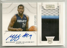 Michael Kidd-Gilchrist 2012-13 National Treasures RPA 3 color Patch RC Auto /199