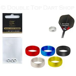 5 x Sets Target Coloured Slot Rings / Lock Rings / Grip Rings - Keeps Flights On