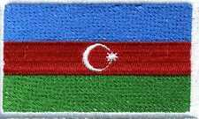 Aufnäher Applikation Aufnähwappen Flagge Wappen • ASERBAIDSCHAN ☆21574 ☆