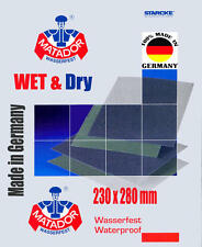 ANY 3 Sheets Wet and Dry Sandpaper by Starcke Fine Grade 2000 2500 3000 Grit