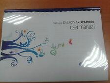 Samsung Galaxy S I9000 149 Páginas Completas Impreso Manual de usuario guía de instrucciones A5