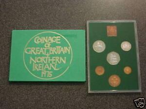 1975 UK DECIMAL ROYAL MINT BU UNC SET 6 COIN COLLECTION