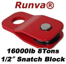 """New Runva Off-Road Recovery 8 Tons/16000lb 1/2"""" Winch Snatch Pulley Block"""