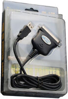 CABLE KABEL ADAPTER USB AUF PARALLEL CENTRONICS FÜR WINDOWS 98 2000 XP VISTA 7