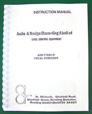 ADR Vocal Stresser F769X-R Complete Owners Manual, with schematics, extras MN