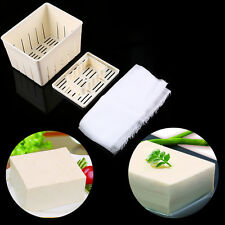 US Tofu Maker Press Mold with Cheese Cloth Soybean Curd Making Cooking Mould Kit