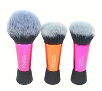New Lot Of 3 Real Techniques Mini Makeup Brush Sculpting, Foundation & Blush