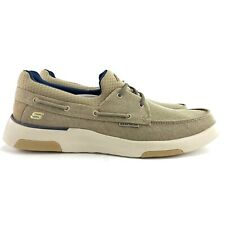 Skechers Men's Bellinger Garmo Classic Fit Taupe Boat Shoes Loafers Size 13 M