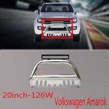 "Volkswagen Amarok Nudge Bar 3"" Stainless Steel 2010-2014+126w Cree Led Light Bar"