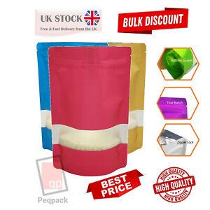 Window Matt finish Foil Stand Up Pouches Mylar Food Grade Zip Lock Heat Seal Bag