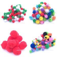 POM POMS Plain & Glitter Seasonal Crafts 6,8,10,15,20 or 28mm Packs JANUARY SALE