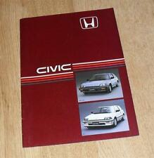 Honda Civic 3 Door Brochure 1985 - 1.3 Deluxe & 1.5 GT