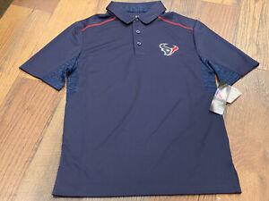 Houston Texans Men's Majestic Navy Logo Polo Size Small - NWT