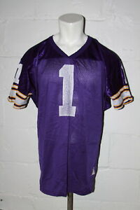 VTG Wilson Minnesota Vikings Warren Moon NFL Football Jersey Sz L Large