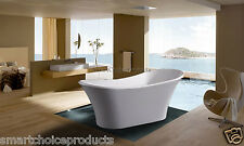 "71"" Bathroom White Color Acrylic Luxury Freestanding Soaking Shower Bath Tub"