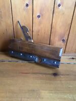 Antique Vintage Carpenters Wooden Wood Plane - Stamped Exhibition Medals London